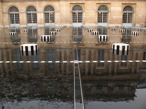 The Buren's columns at the Palais Royal - Not a tourist in sight (except for me...)