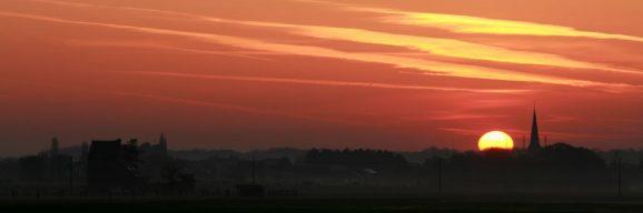 Sunrise over Perk (Vlaams Brabant, North-East of Brussels)