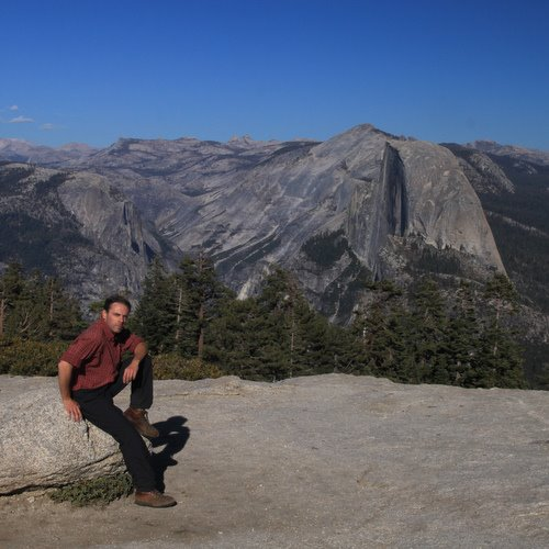 Enjoying the view from Sentinel Dome (Yosemite NP)