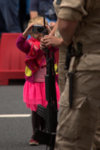 Another (tiny) photographer who dared to go very close to the soldiers