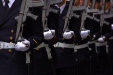 Details of soldiers, ready to start