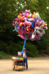 balloons seller in the Brussels Park