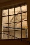 Une des fenêtres à l'intérieur du musée Bozar à Bruxelles