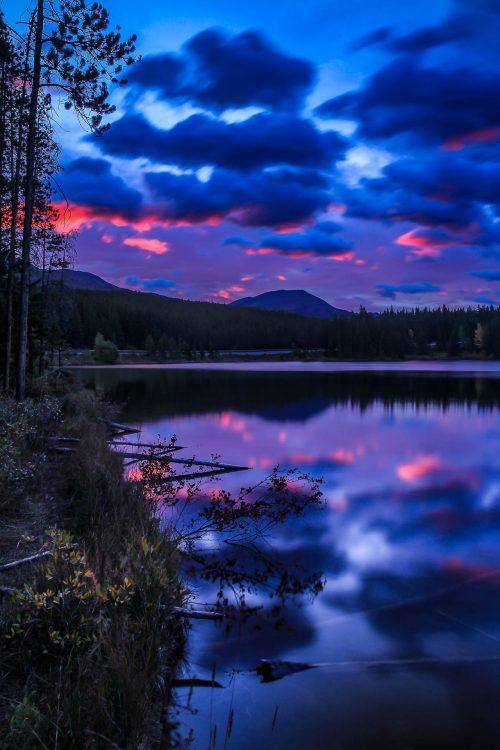 Aube sur le lac Herbert