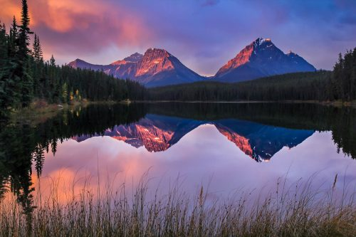 Dawn at Leach Lake (Alberta)