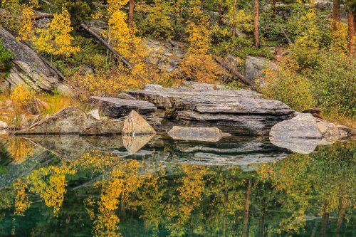 Temps pluvieux II (Horseshoe Lake, Jasper National Park, Alberta)