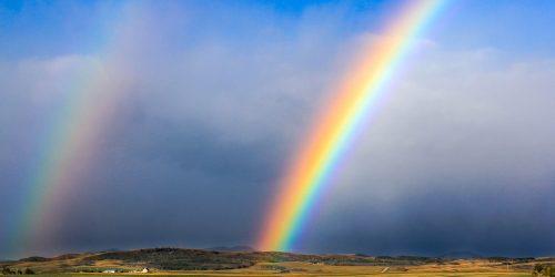 Double rainbow over Alberta