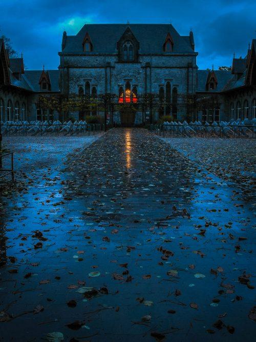 Maredsous Abbey at dawn
