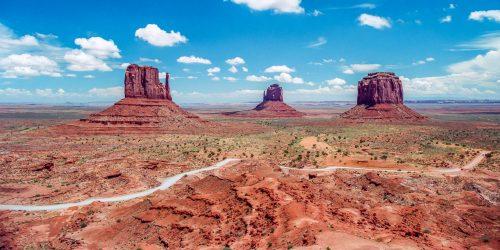 Vue classique sur Monument Valley
