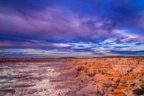 Crépuscule sur le Painted Desert