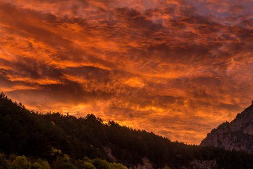 Last light in Bielsa