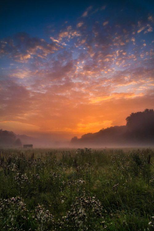 Sunrise in the Mazerine valley