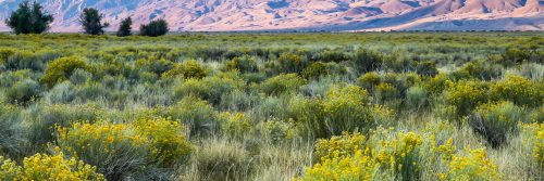 Day ends in Owens Valley (California)