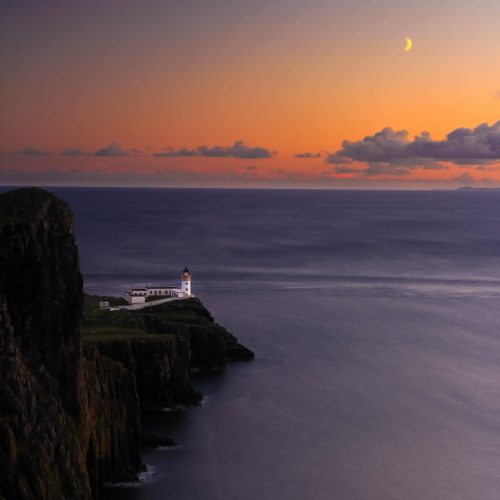 Sunset at Neist Point (isle of Skye)
