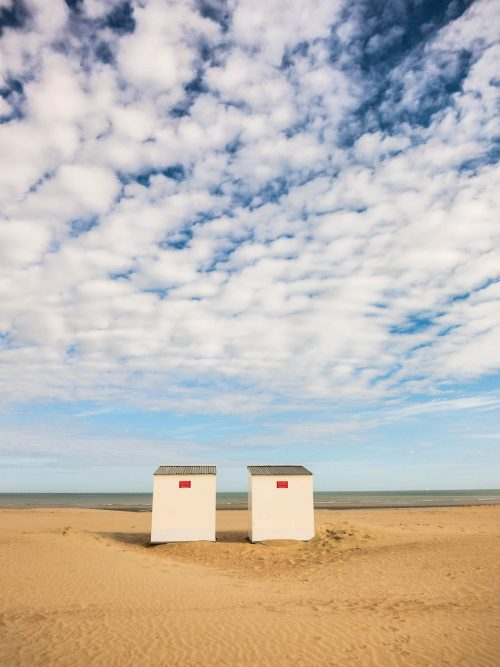 Beach cabins in Oostduinkerke