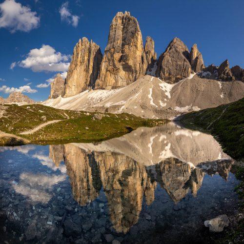 Drei Zinnen and reflection
