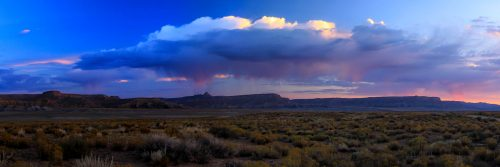 Morning thunderstorm on the Kaiparowits Plateau