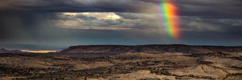 Rainbow above Spencer Flat