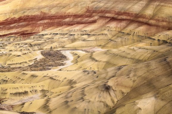 The colourful buttes of the John Day Fossil Beds National Monument