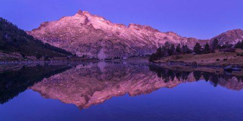 Dawn on the Neouvielle and lake Aumar