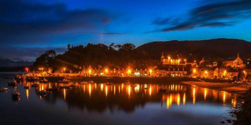 Blue hour in Portree (isle of Skye)
