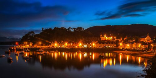 Blue hour in Portree (Skye Island)