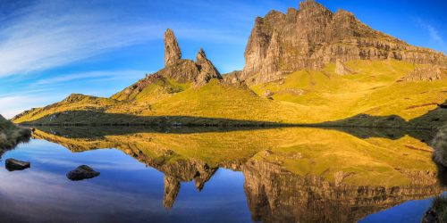 Small lake below Old Man of Storr (Skye island)