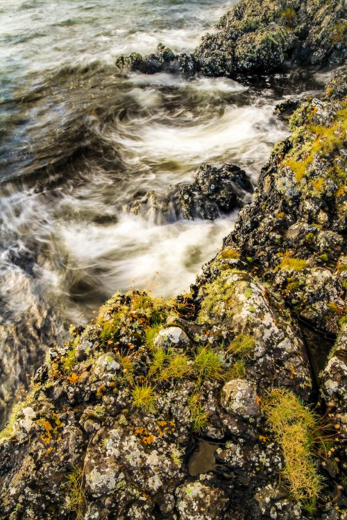 Rocky shore and stormy sea (isle of Skye)