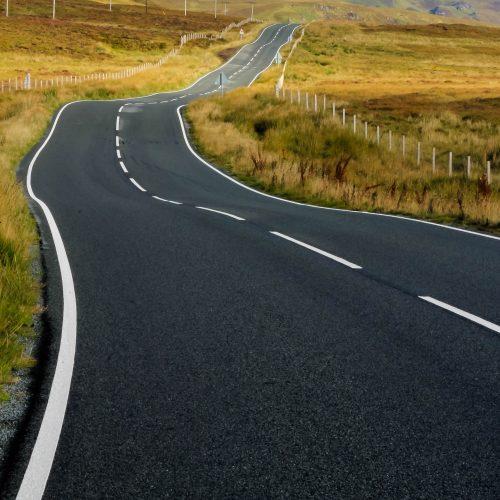 The tortured road (isle of Skye)