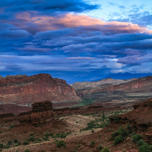 Twilight on the Fremont River (Capitol Reef National Park)