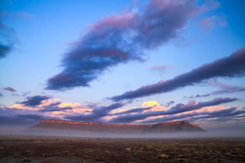 Misty morning near Factory Butte