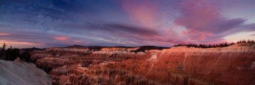 Crépuscule sur Cedar Breaks