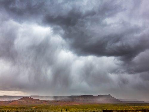 Orage près de Virgin (Utah)