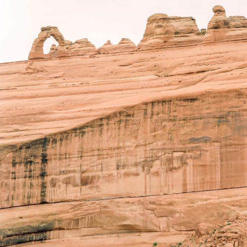 Une vue inhabituelle de Delicate Arch (Arches National Park)