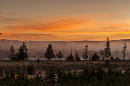 Sunrise on the Madison River (Yellowstone National Park, Wyoming)