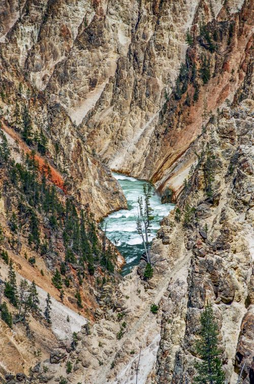 The bottom of the Grand Canyon of the Yellowstone